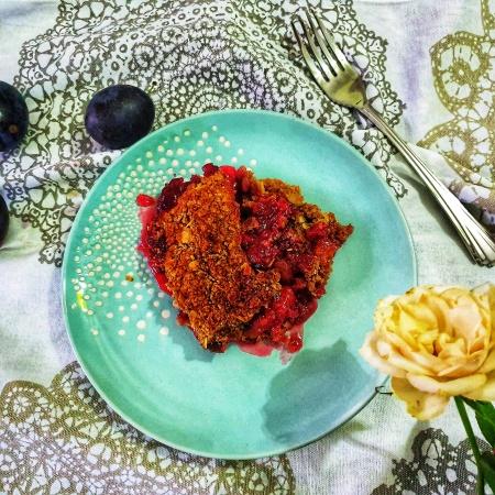 Reţetă simplă de crumble cu prune